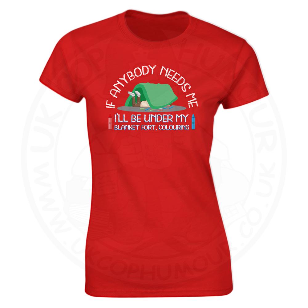 Ladies BLANKET FORT T-Shirt - Red, 18