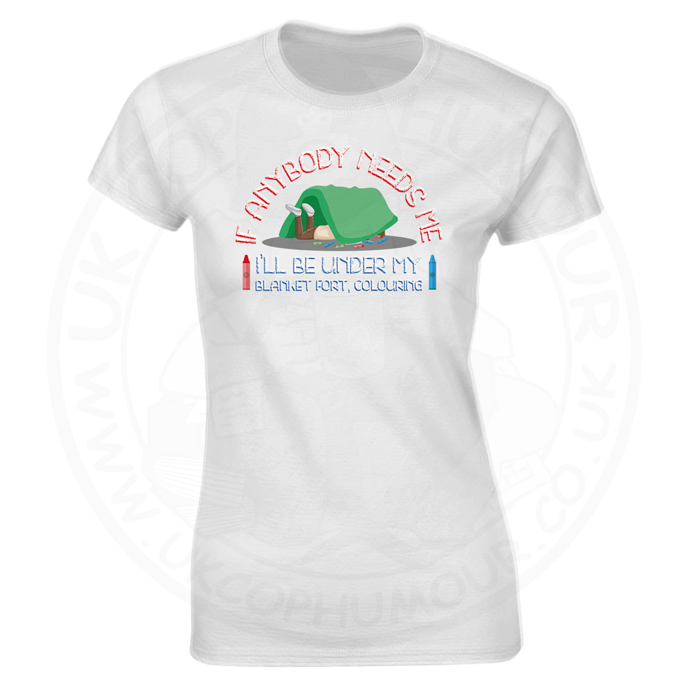 Ladies BLANKET FORT T-Shirt - White, 18