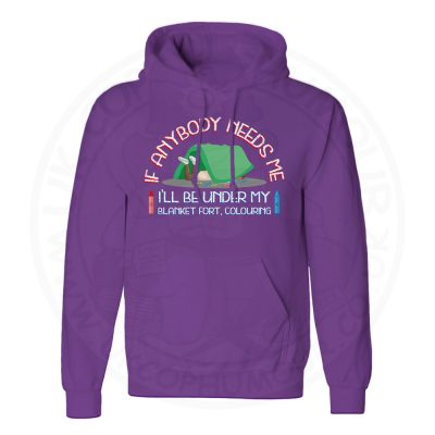 Unisex BLANKET FORT Hoodie - Purple, 3XL