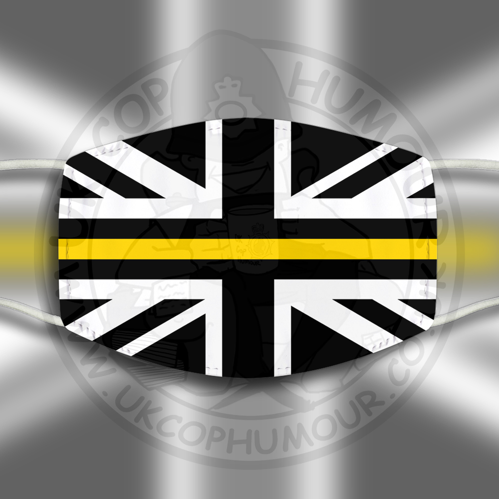 THIN YELLOW LINE Face Cover
