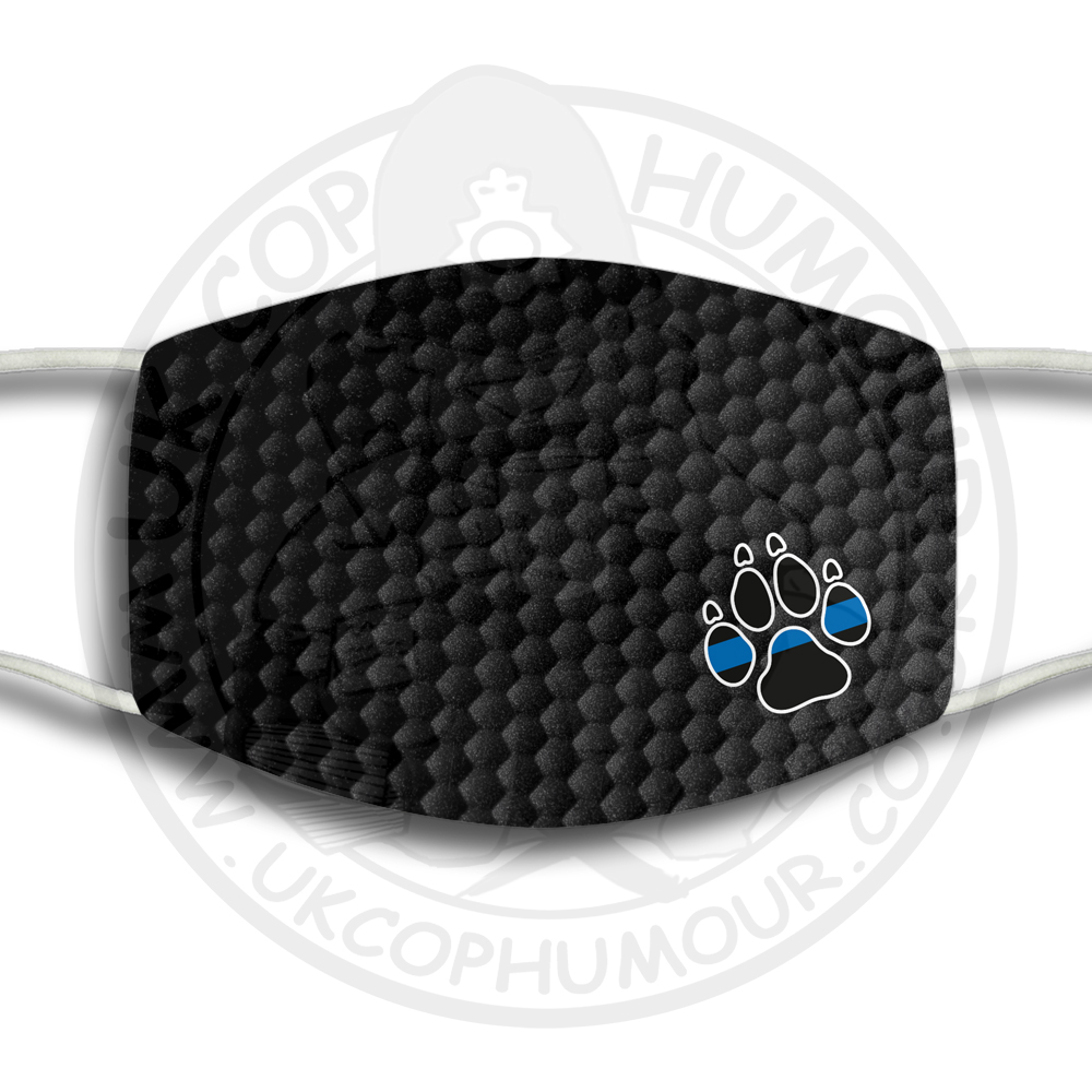 THIN BLUE LINE PAW PRINT Face Cover
